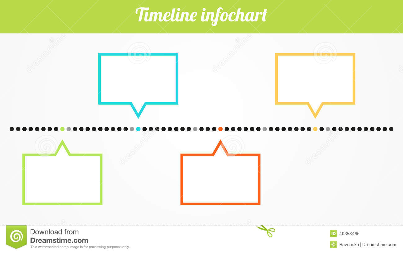 Blank Timeline Clipart. Timeline infochart