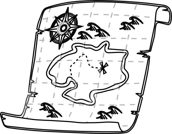 78 map clipart black and white clipartlook blank treasure map black and white clipart best gumiabroncs Choice Image