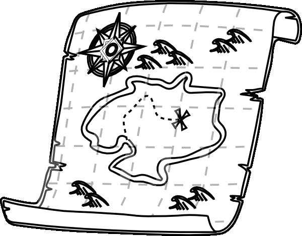 Blank Treasure Map Black And White Clipa-Blank Treasure Map Black And White Clipart Best-2