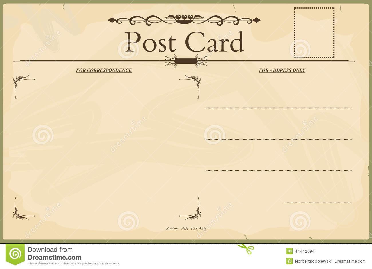 Blank vintage postcard-Blank vintage postcard-16