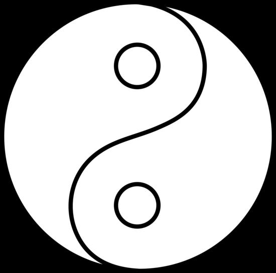 Blank Yin Yang Line Art