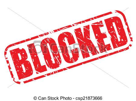 Blocked Clipart