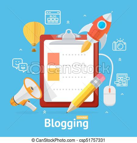 Blogging Concept. Vector