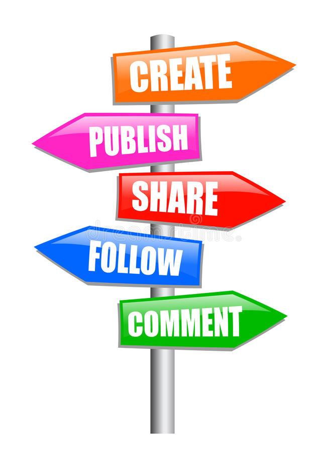 Download Blogging stock vector. Illustration of design, follow - 29998292