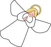 Blonde Praying Angel Clipart - Christmas Angel Clip Art