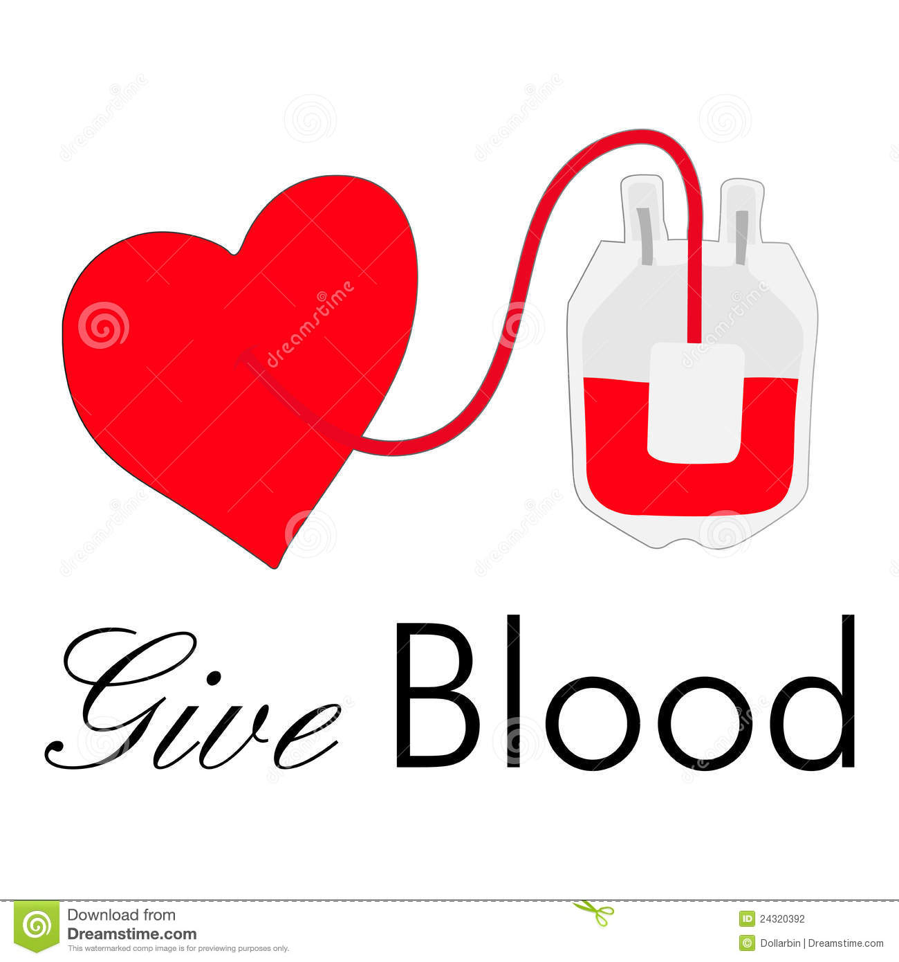 Blood Drive Heart Clipart #1