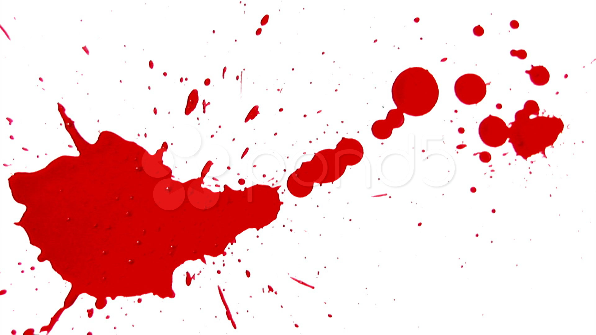 Blood Splatter Animation Clip - Blood Splatter Clipart