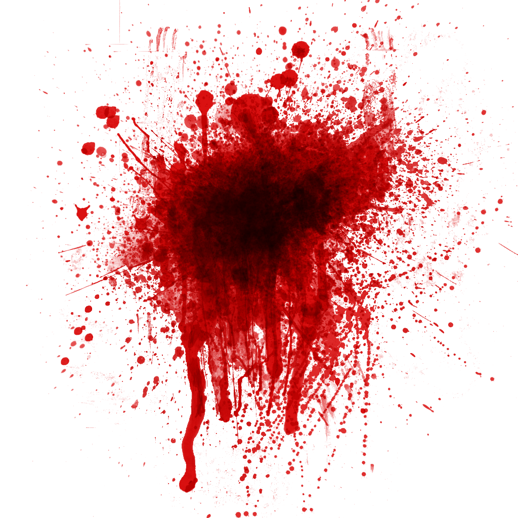 Blood splatter clipart - .