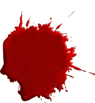 Blood Splatter - ClipArt . - Blood Splatter Clipart