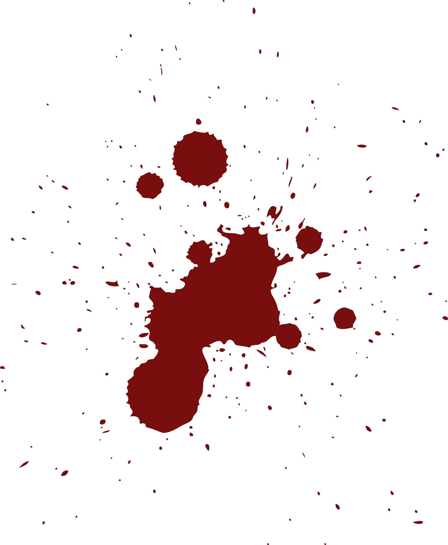 Blood Splatter Png Clipart - Blood Splatter Clipart