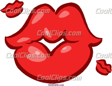 Blowing Kisses Clip Art - Kissing Lips Clipart