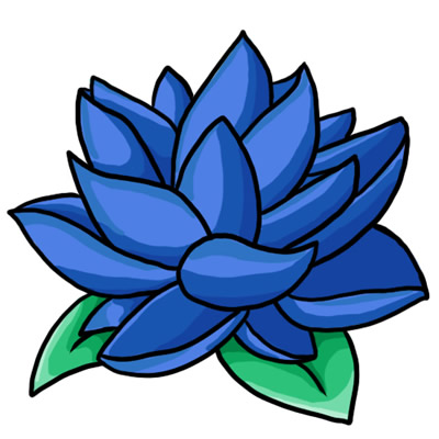 blue flower border clip art