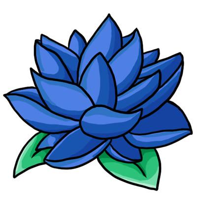 Blue Flower Border Clip Art-blue flower border clip art-1