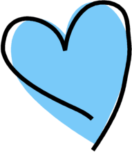 blue heart clipart - Blue Heart Clipart