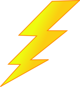 blue lightning bolt clipart