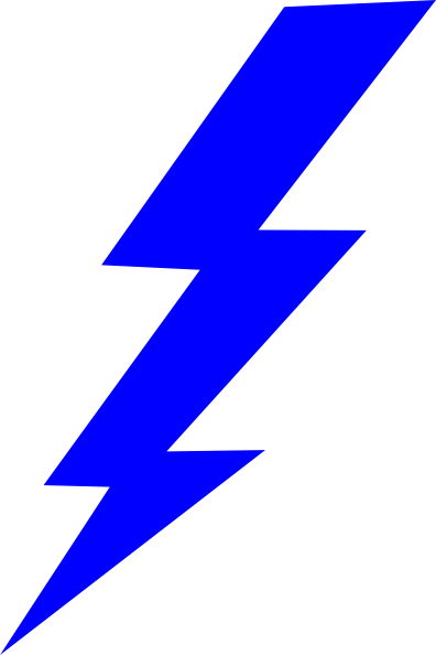 blue lightning bolt clipart-blue lightning bolt clipart-13