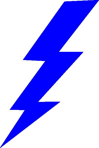 blue lightning bolt clipart