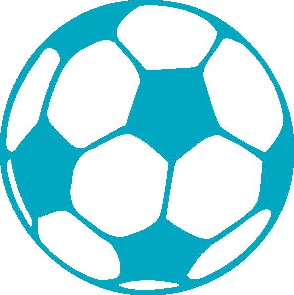 blue soccer ball clipart