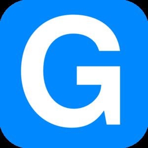 Blue Alphabet G, G Letter Clip .