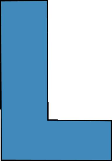 Blue Alphabet Letter L Clip Art Image La-Blue Alphabet Letter L Clip Art Image Large Blue Capital Letter L-2