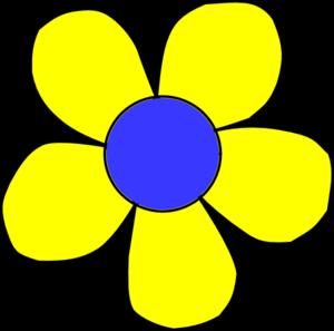 Blue And Yellow Flower Clip Art At Clker-Blue And Yellow Flower Clip Art At Clker Com Vector Clip Art Online-1