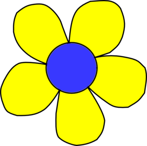 Blue And Yellow Flower Clip Art At Clker Com Vector Clip Art Online