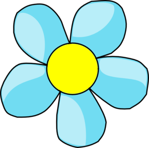 Blue And Yellow Flower Clipart .-Blue And Yellow Flower Clipart .-2