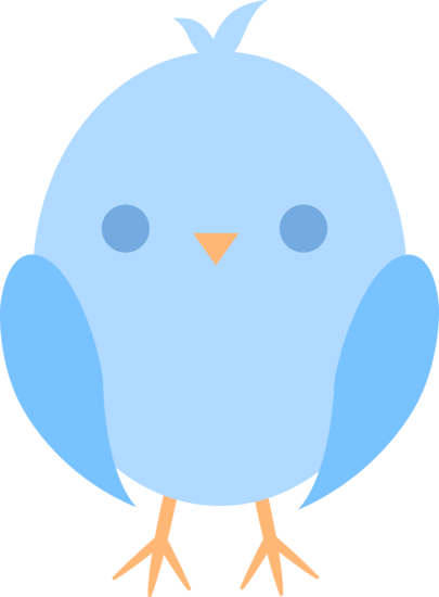 Blue Baby Bird Clipart #1-Blue Baby Bird Clipart #1-12