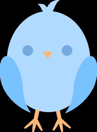Blue Baby Bird Clipart #1