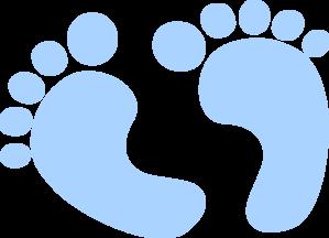 Blue Baby Feet Clip Art