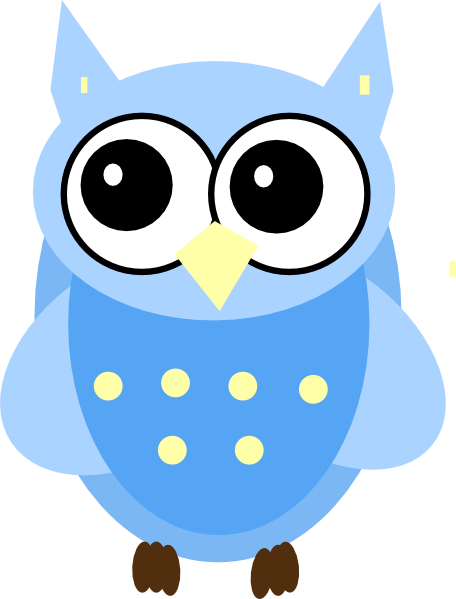 Blue Baby Owl Clip Art At Clker Com Vector Clip Art Online Royalty