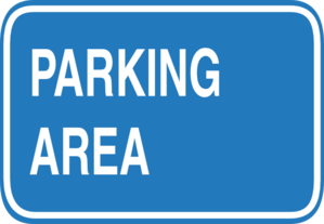 Blue Blank Parking Sign Clip Art