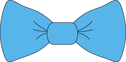 Blue Bow Tie - Bow Tie Clipart