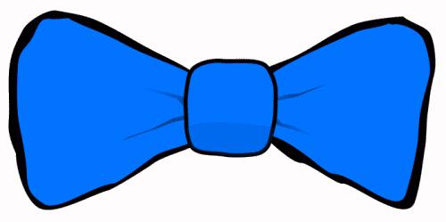 Bow tie blue. Clip art clipartlook
