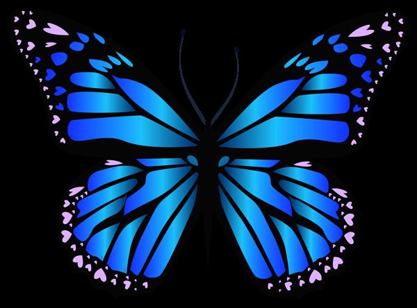Blue Butterfly PNG Clipar Image-Blue Butterfly PNG Clipar Image-1