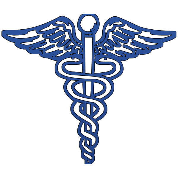 Blue Caduceus Medical Symbol Clipart Image Ipharmd