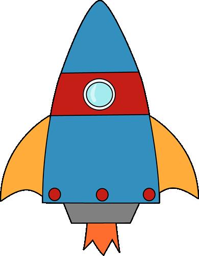 Blue Cartoon Rocket Clipart u0026middot; «