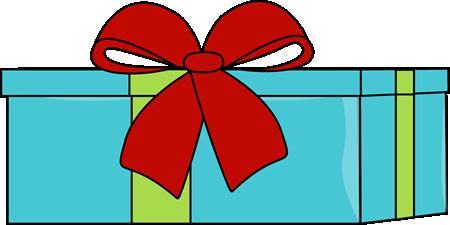 Blue Christmas Gift Clip Art - Blue Chri-Blue Christmas Gift Clip Art - Blue Christmas Gift Image-1