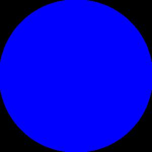 Blue circle clipart