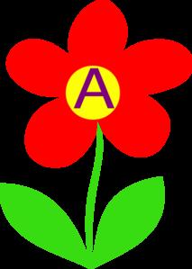 Blue Clip Art Flower Letter A Clip Art