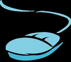 Blue Computer Mouse Clip Art
