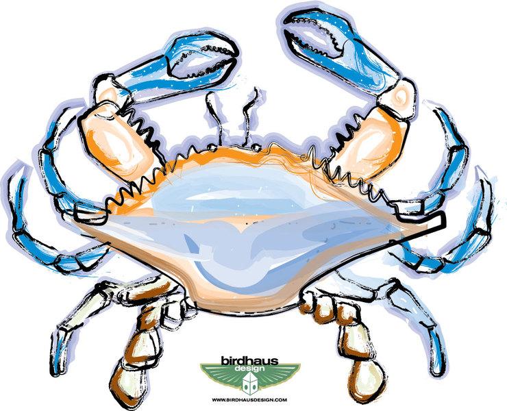 Blue Crab Clip Art. blue crab drawing