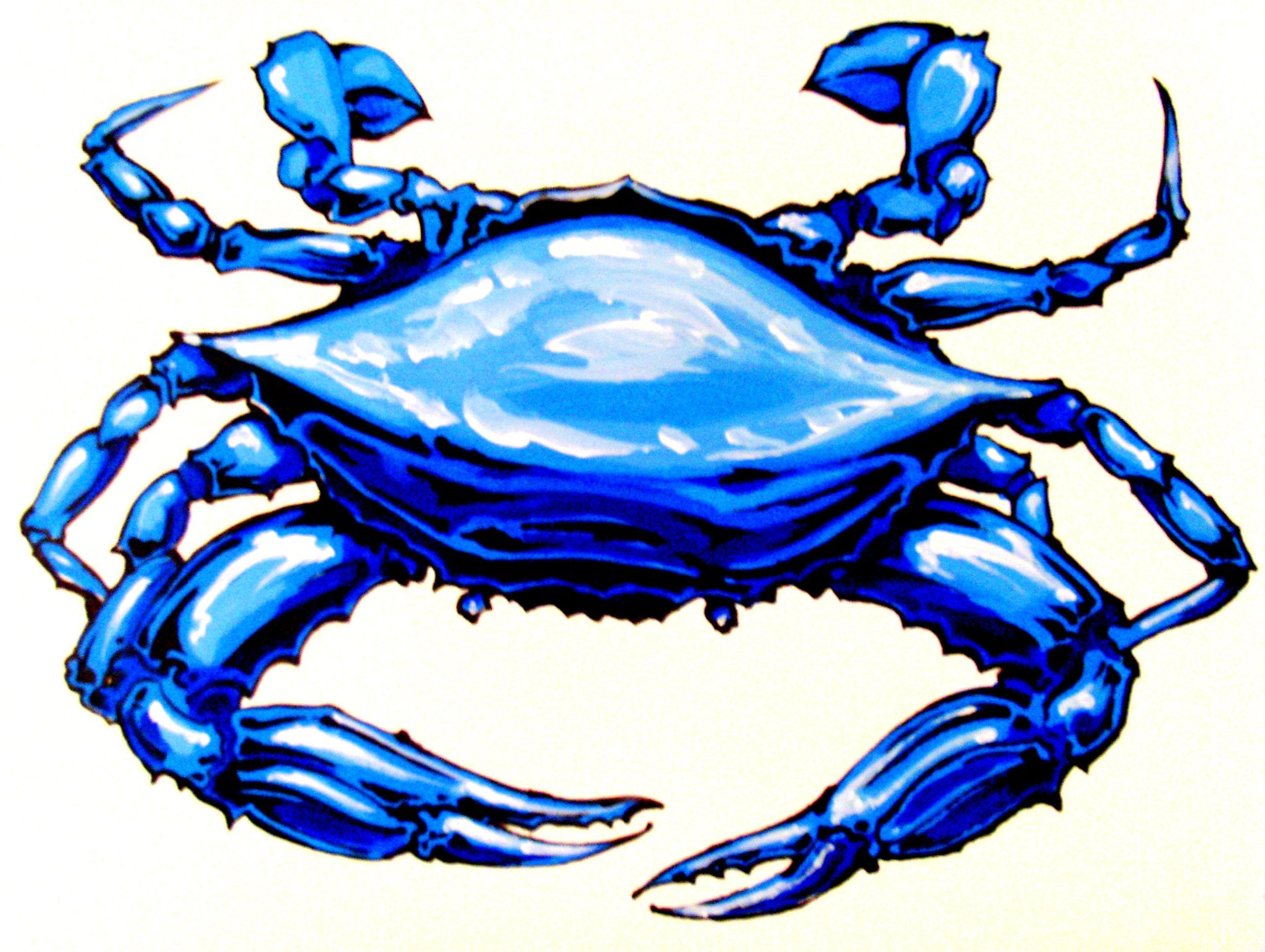 Blue Crab Painting   Clipart library - F-Blue Crab Painting   Clipart library - Free Clipart Images-5