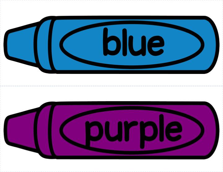 Blue crayon clipart