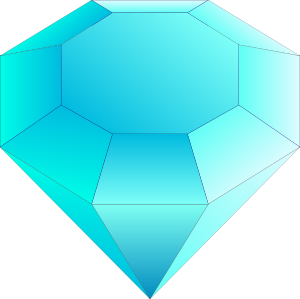 Blue Cut Gemstone Saphire Clip Art At Clker Com Vector Clip Art