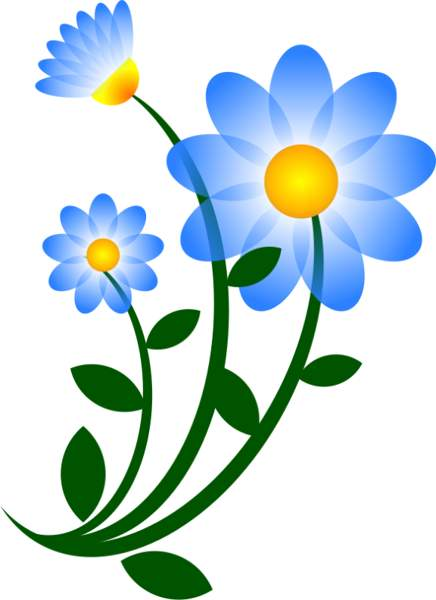 Blue Daisy Flower Clipart Free .-Blue daisy flower clipart free .-2
