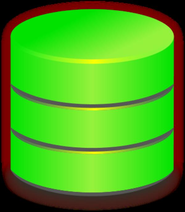 Blue Database Vector Clip Art-Blue database vector clip art-1