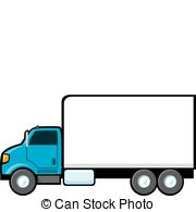 ... Blue Delivery Truck - A blue delivery truck with a blank.