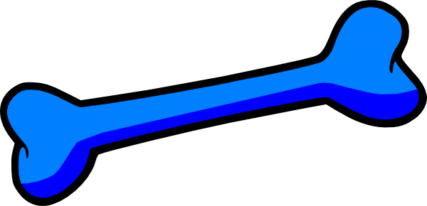 Blue Dog Bone clip art - vector clip art-Blue Dog Bone clip art - vector clip art online, royalty free-18