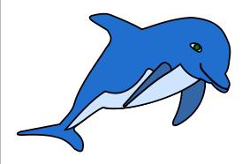 Blue Dolphin Clip Art-Blue Dolphin Clip Art-1